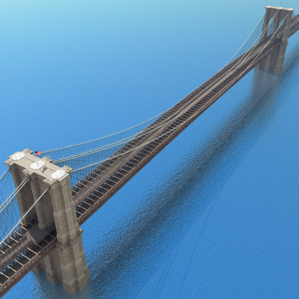 3d brooklyn bridge - Brooklyn Bridge... by 3d_molier