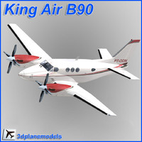 3ds max beechcraft c90 king air