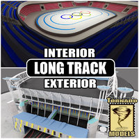 Long Track Arena Interior and Exterior