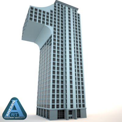 3d buildings shape numbers construction model number shaped building