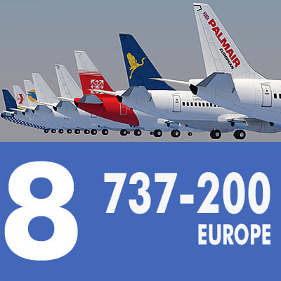 737 200 Collection. Eight Europe Airlines