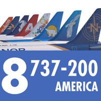 3d 737 200 airliner american model