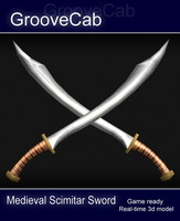 3d max medieval scimitar sword