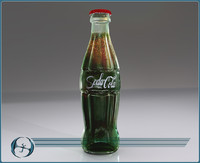 3d iconic glass cola bottle model
