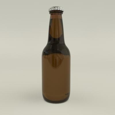 beer bottle 3d max. Black Bedroom Furniture Sets. Home Design Ideas