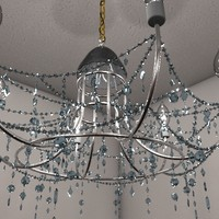 3d interior chandelier lighting model
