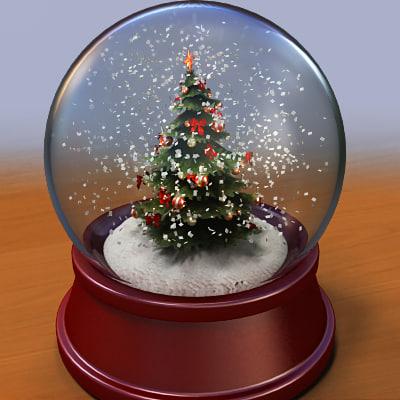 Christmas Tree Snow Globes