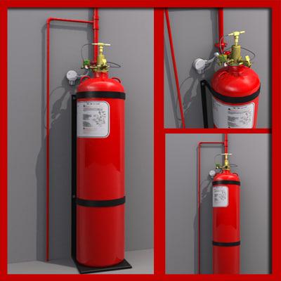 Gas Discharge Fire Extinguisher