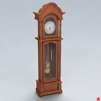 clock grandfather 3d x