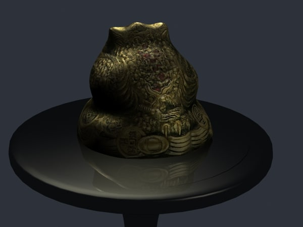 3d feng money frog model - Money Frog... by Durham