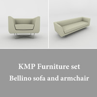 Kmp bellino sofa and armchair