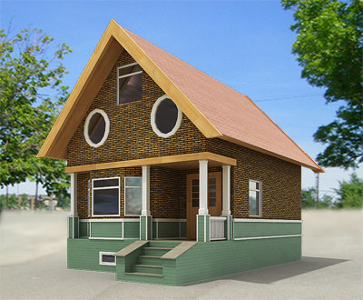 Small town house building 3d model Small home models pictures