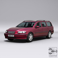 swedish station wagon 3d max