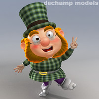 cartoon Dwarf - Leprechaun