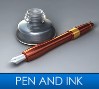 3ds max dip pen ink