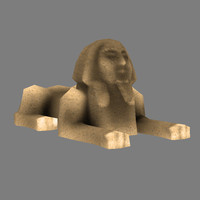 Sphinx model - lowpoly