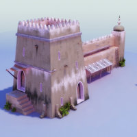 islamic tower 3d max