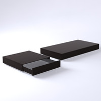 3d set bench tables model