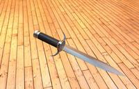 3d model couteau