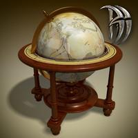 ancient globe 3d max