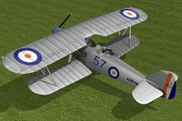 3d hawker hart bomber model