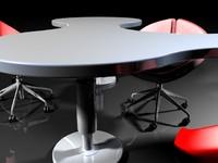 contemporary desk 3ds