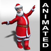 santa claus rigged animations 3d 3ds