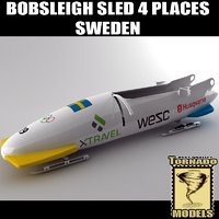 Bobsleigh Sled - 4 Places - Sweden