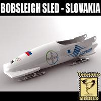 bobsleigh sled - slovakia 3d fbx