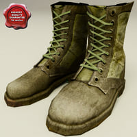 soldiers boots v2 3d max