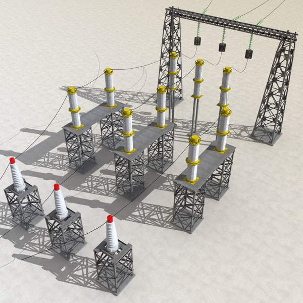 Substation v3 3d model 3d model sites