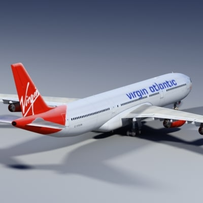 3ds a340-300 virgin - A340-300 VIRGIN... by Wydler Studios