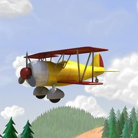 3d airplane air