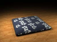 dzabuton japanese pillow 3d max