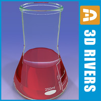 3d flask chemistry lab