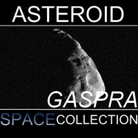 3d model of gaspra asteroid