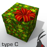 3d model of gift box types