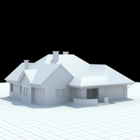 3d single-family house model