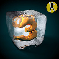 3d model ice cube