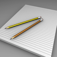 Notepad and 2 Black Lead Pencils