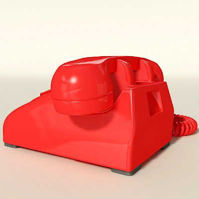 max rotary telephone - Red Telephone... by Dorador
