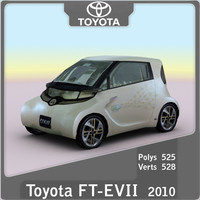 3d model of 2010 toyota ft-ev ii