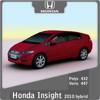 3d model 2010 honda insight hybrid