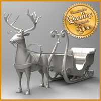 Raindeer with Sleigh
