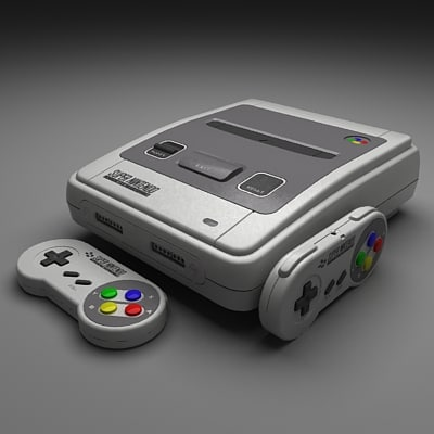 super nintendo 3d max - Snes... by Fx3200