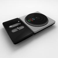 3d dj hero controller model