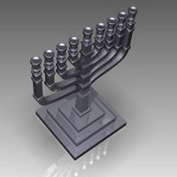 3ds hanukkah menorah