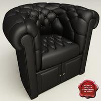 armchair classic v9 3d max
