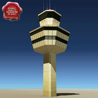 3d flight control tower
