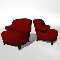 3dsmax gacy armchair promemoria